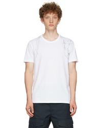 Alexander McQueen White Printed Harness T Shirt