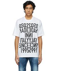 DSQUARED2 White Reverse Print T Shirt