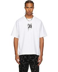 Dolce & Gabbana White Rubber Logo T Shirt