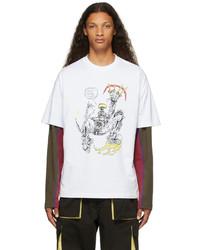 Brain Dead White Them Skates Edition Masters Of Flow T Shirt