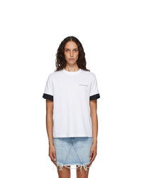 Givenchy White Twisted Cuffs T Shirt