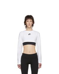 Nike White Air Long Sleeve Crop Top