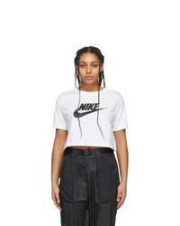 Nike White Essential Crop Icon T Shirt