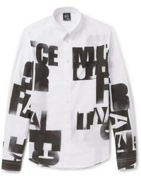 Alexander ueen printed cotton shirt medium 34051