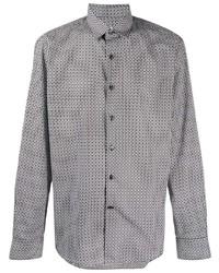 Salvatore Ferragamo Gancini Print Button Down Shirt