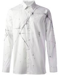 Helmut Lang Vector Poplin Printed Shirt