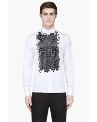 Kris van assche krisvanassche white crocodile skin print shirt medium 34049