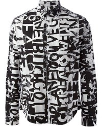 McQ by Alexander McQueen Graffiti Print Shirt