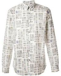 Paul Smith Doodle Window Print Shirt