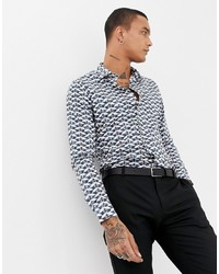 5cbb288e06e71 Men s White and Black Dress Shirts from Asos