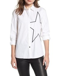 Current/Elliott The Elenora Star Embellisht Cotton Blouse