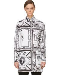 White black mixed print anthony vaccarello edition blouse medium 141842