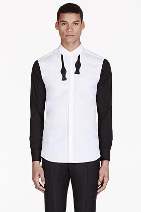 Tie print shirt white dress