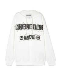 Moschino Embellished Cotton Jersey Hoodie