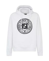 Fendi Stamp Motif Hooded Sweatshirt