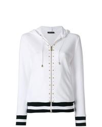 Versace Studded Stripe Detail Zipped Hoodie