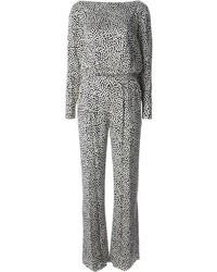 Diane von Furstenberg Mini Print Jumpsuit