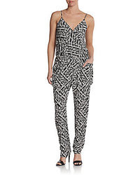 Romeo juliet couture abstract printed jumpsuit medium 28074