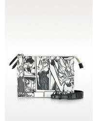 McQ by Alexander McQueen Mcq Alexander Mcqueen White Manga Print Shoulder Bag