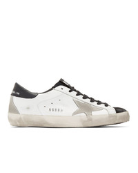 Golden Goose White And Black Sneakers