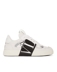 Valentino White Garavani Elastic Low Top Sneakers