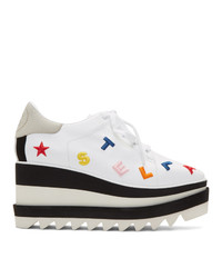 Stella McCartney White And Multicolor Embroidered Elyse Sneakers