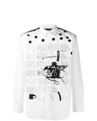 Comme Des Garcons SHIRT Comme Des Garons Shirt Comme Des Garons Shirt X Jean Michel Basquiat Sketch Print Shirt