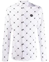 Philipp Plein Diamond Cut Skull Shirt