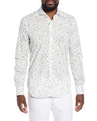 EMANUAL BERG Emanuel Berg Regular Fit Butterfly Print Cotton Sport Shirt