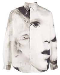 MSGM Face Print Shirt
