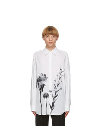 Valentino Off White And Black Flowersity Shirt