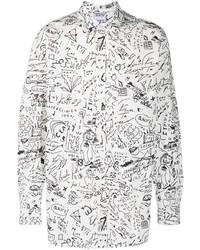 Marcelo Burlon County of Milan Sketches Long Sleeve Shirt