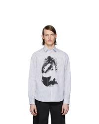 McQ Alexander McQueen White And Black Sheehan 20 Shirt