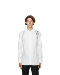 Alexander McQueen White Floral Harness Shirt