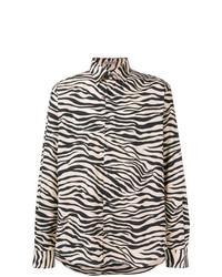 Bottega Veneta Zebra Print Shirt