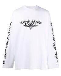 Vetements Gothic Print Long Sleeve T Shirt