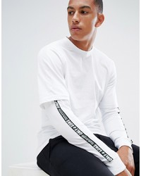 ONLY & SONS Long Sleeve T Shirt With Faux Layer Detail And Arm Stripe