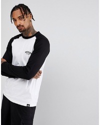 Dickies Raglan Long Sleeve T Shirt With Black Sleeve