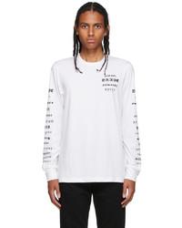 Diesel White B50 Long Sleeve T Shirt