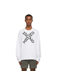 Kenzo White Big X Sport Skate Long Sleeve T Shirt