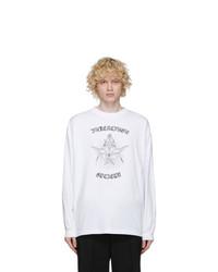 Balenciaga White Gothic Long Sleeve T Shirt