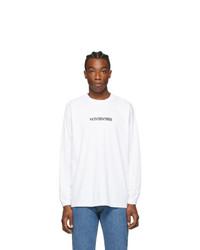 Vetements White Logo Long Sleeve T Shirt
