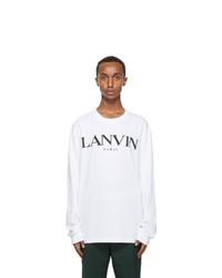 Lanvin White Logo Long Sleeve T Shirt