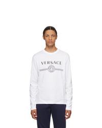 Versace White Medusa Logo Long Sleeve T Shirt