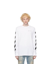 Off-White White Pencil Arch Long Sleeve T Shirt