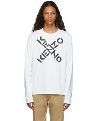 Kenzo White Sport Big X Long Sleeve T Shirt