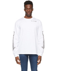 Diesel White T Just Ls A8 Long Sleeve T Shirt