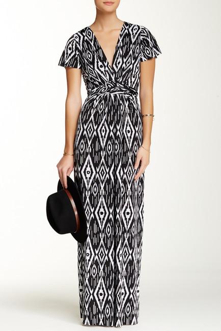 T Bags Losangeles Tbags Surplice Print Maxi Dress