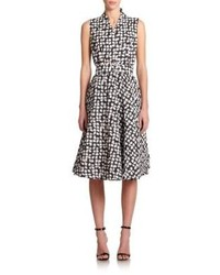 Pauw Check Print Belted Dress
