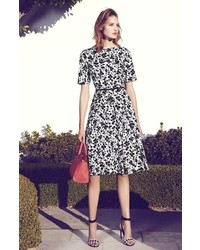 Maggy London Print Sateen Fit Flare Dress Where To Buy How To Wear